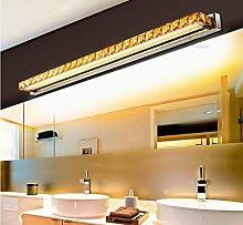 FAFZ Spiegel vorne Lichter, einfache moderne LED-Leuchten, Kristall Spiegel vorne Lichter, Luxus-Mode Bad WC Licht, Bad feuchtigkeitsfeste Edelstahl Wandleuchte ( Farbe : Weiß-10w62cm )