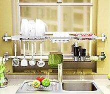 FAFZ Spüle Drainage Rack, 304Edelstahl Regal, Küche, Arztausstattung, zusammenklappbar Schüssel Rack 3#