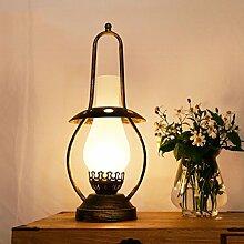 FAFZ Vintage Tischlampe Studie Schlafzimmer Nachttischlampe kreative dekorative chinesische Stil Retro Nostalgie alte Lampe Leuchten