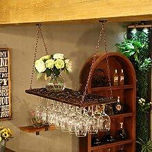 FAFZ Wein Glas Rack, Regal Wein Glas Halter, Wein Glas Rack, Wein Glas Rack, champagner Glas Rack, Glaswaren Rack Weinregalen, Bronze red, 80*31cm