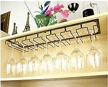 FAFZ Wein Glashalter,Wein Glas Rack, Weinglas Hanger, Stemware Rack,Weinglas Rack Stemware Weinregale ( Farbe : 2 , größe : 70*22.5cm )