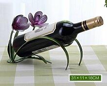FAFZ Wein-Racks Eisen-Ornamente Kreative Wein-Racks Flaschen-Racks Home Simulation Rotwein Regal Display Stand Weinregale ( Farbe : 5 )