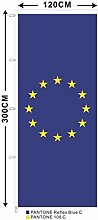 Fahne Europa 120 x 300 cm Hochformat EU Flagge