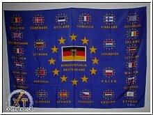 Fahne Europa alle 25 Länder mit Schrift Grösse