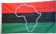 Fahne / Flagge Afro Amerikaner UNIA mit Afrika