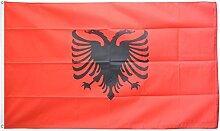 Fahne / Flagge Albanien + gratis Sticker,