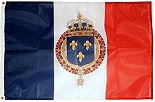 Fahne / Flagge Frankreich mit königlichem Wappen