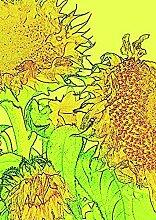 Fahne/Flagge Garten Sonnenblume gelb 28x38cm