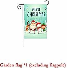 Fahne/Flagge/Gartenfahne, Weihnachtsgarten Flagge
