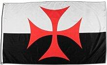 Fahne / Flagge Kreuzritter Kreuz + gratis Sticker, Flaggenfritze®
