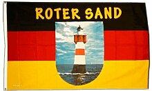 Fahne / Flagge Leuchtturm Roter Sand + gratis Sticker, Flaggenfritze®