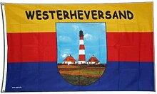 Fahne / Flagge Leuchtturm Westerheversand + gratis