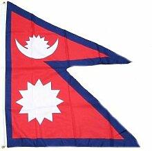Fahne / Flagge Nepal 90 x 150 cm Flaggen Fahnen