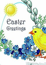 Fahne Flagge Ostern Easter Greetings 71x102cm