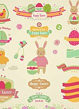 Fahne Flagge Ostern Happy Easter Osterei Hase
