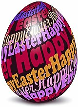 Fahne Flagge Ostern Osterei bunt Happy Easter 71x102cm
