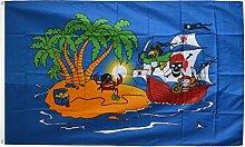 Fahne / Flagge Pirat Piratenschiff + gratis