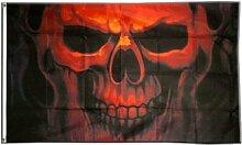 Fahne / Flagge Totenkopf Geist + gratis Sticker,