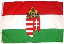 Fahne / Flagge Ungarn mit Wappen 150 x 250 cm Flaggen
