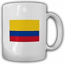 Fahne von Colombia República de Colombia Colombia Republik Columbien Fahne Flagge - Kaffee Becher Tasse #13647
