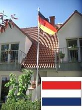 Fahnenmast Aluminium inkl. Niederlandflagge, 6,2