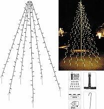 Fahnenmast Beleuchtung 10x 8 Meter - Lichterkette
