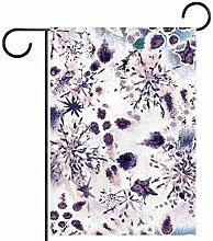 Fahnenmast für Gartenfahnen mit magischem Schnee,