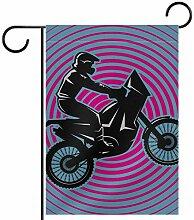Fahnenmast für Herren und Motorrad, für Flaggen