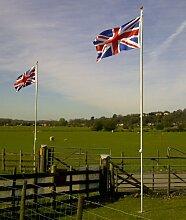 Fahnenmast mit 2 Flaggen (Union Jack und England),