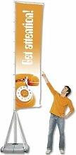 Fahnenmast Outdoor Flag Mega 110x400cm Bannerdisplay Display Banner Fahne 4585