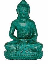 Fahome Buddha Deko Stein Statue Lavasand ca. 20 cm