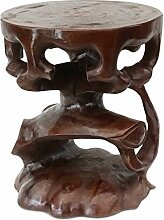 FaHome Saman-Holz Rundhocker Möbel ca. 40 cm