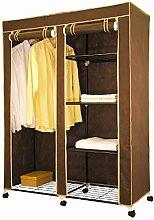 Fahrbarer XXL Kleiderschrank Stoffschrank Regal