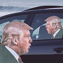 Fahre mit Donald Trump Fenstersticker - Fahre mit Donald Trump Fenstersticker Sticker Fensterscheibe Aufkleber