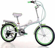 Fahrrad 20-Zoll Faltrad Fahrrad Männer Und Frauen Farbe Mit Studenten Auto Transport Werkzeuge,Green-20in