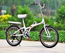 Fahrrad 20-Zoll Faltrad Fahrrad Männer Und Frauen Farbe Mit Studenten Auto Transport Werkzeuge,Brown-20in