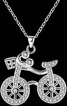 Fahrrad Anhänger Halskette Schmuck , Silber