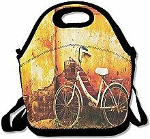 Fahrrad Bike in Brick Wand gebrochen Lunch Tasche
