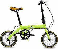 Fahrrad Faltrad Speedy Gehobenen Geschwindigkeit Mountainbike Männer Und Frauen Fahrrad Geschenk Pedal Biking Werkzeuge,Green-18in