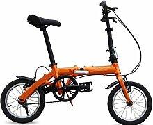 Fahrrad Faltrad Speedy Gehobenen Geschwindigkeit Mountainbike Männer Und Frauen Fahrrad Geschenk Pedal Biking Werkzeuge,Orange-18in