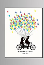 Fahrrad Fingerabdruck Unterschrift Segeltuch Braut
