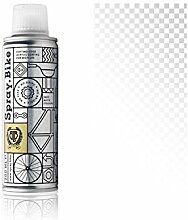 """Fahrrad Lackspray Pocket Clear - halb-transparenter Farblack mit Klarlack Optik für eine Glanz-Lasur, Überblendung oder Schattierung - praktische 200ml Spraydose (Weiß """"Whitechapel Clear"""")"""