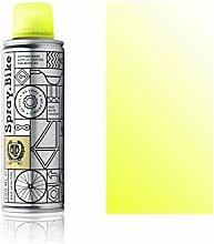 """Fahrrad Lackspray Pocket Clear - halb-transparenter Farblack mit Klarlack Optik für eine Glanz-Lasur, Überblendung oder Schattierung - praktische 200ml Spraydose (Neon Gelb """"Fluro Yellow Clear"""")"""
