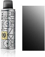 """Fahrrad Lackspray Pocket Clear - halb-transparenter Farblack mit Klarlack Optik für eine Glanz-Lasur, Überblendung oder Schattierung - praktische 200ml Spraydose (Schwarz """"Blackfriars Clear"""")"""