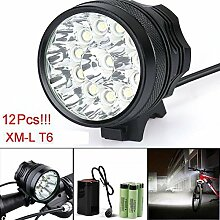 Fahrrad Licht, TopTen Fan-Motive 12 x T6 LED
