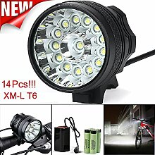 Fahrrad Licht, TopTen Fan-Motive 14 x T6 LED