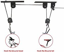 Fahrrad Lift, ourmall Mountain 453kg/45kg Kapazität Riemenscheibe Condole Top Racks Display Rack zum Aufhängen Rack Racks Crane Rahmen Kleiderbügel Bick Hoist Lift Garage Speicherkapazität Kanu Hebezeuge Bike Lift Hoist Garage