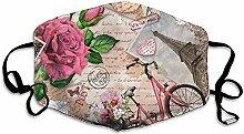 Fahrrad mit Blumen im Korb Eiffelturm Rose Bequeme