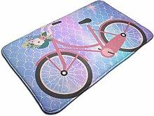Fahrrad mit Blumen Rutschfester Teppich