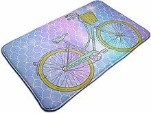 Fahrrad mit Blumenkorb Rutschfester Teppich